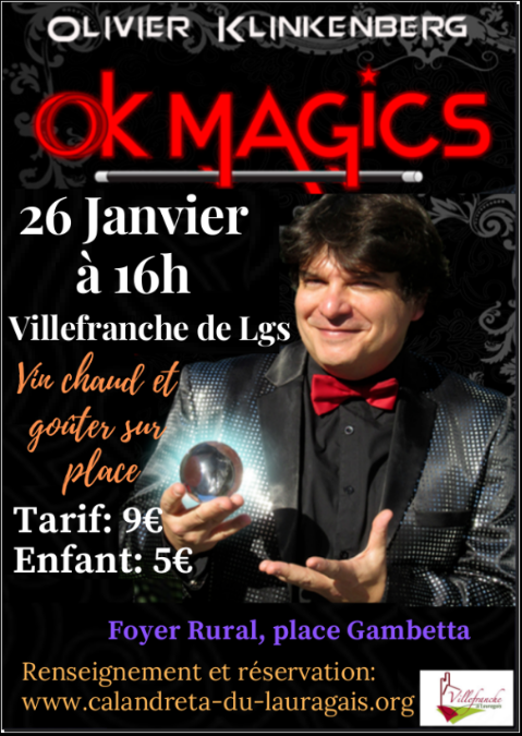 Affiche spectacle magie